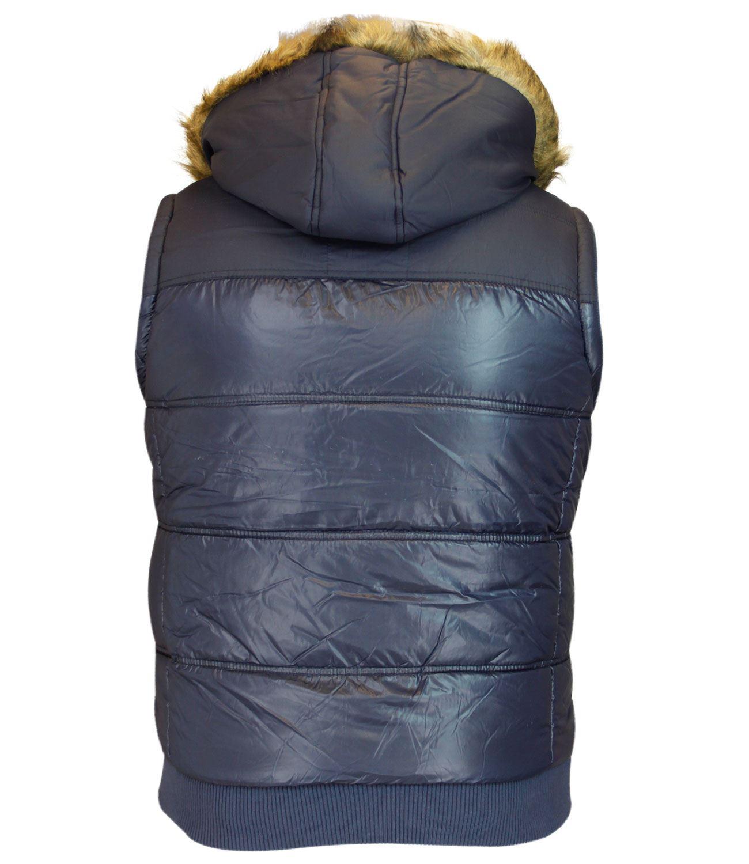 crosshatch mens padded gilet winter body warmer fur lined. Black Bedroom Furniture Sets. Home Design Ideas