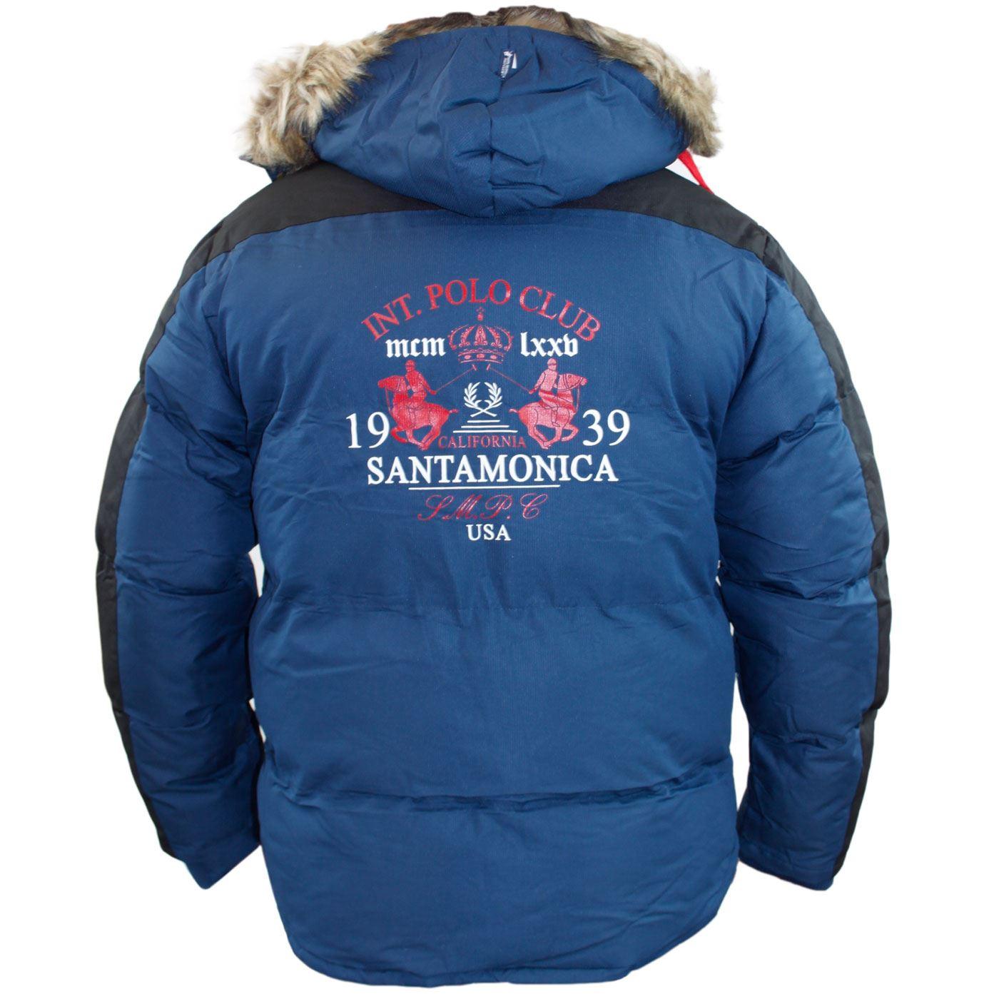 New Mens Santa monica Designer Perka Jacket Lined Winter Coat Detachable Hood