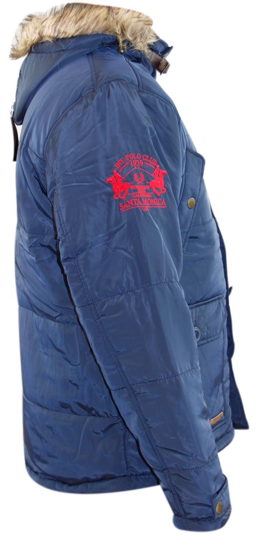 New Mens Santa monica Designer Perka Jacket Lined Winter Detachable Hood Coat