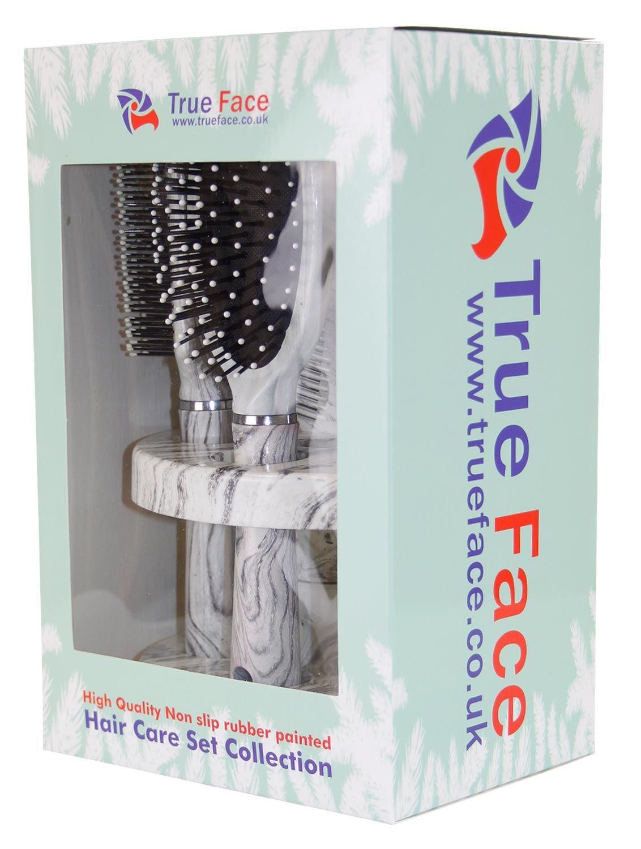 New 5pcs Ladies Unisex Mirror Hair Brush Comb Set Women