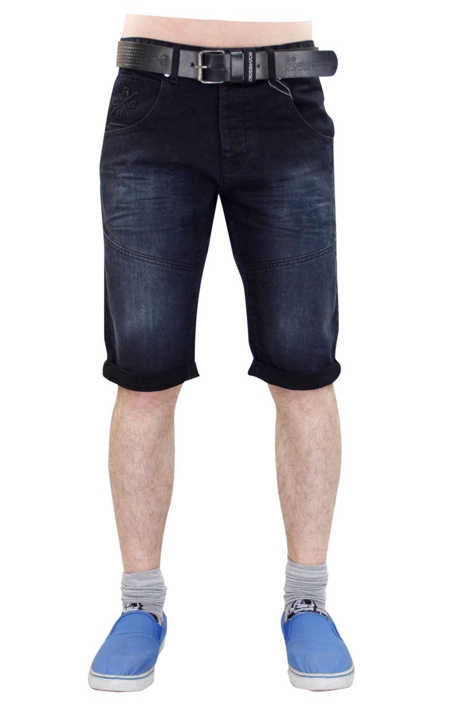New Mens Designer Crosshatch Turn Up Stretch Denim Free ...