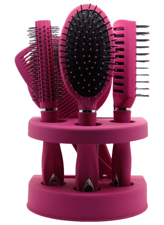 New 5Pcs Ladies Unisex Mirror Hair Brush Comb Set Women ...