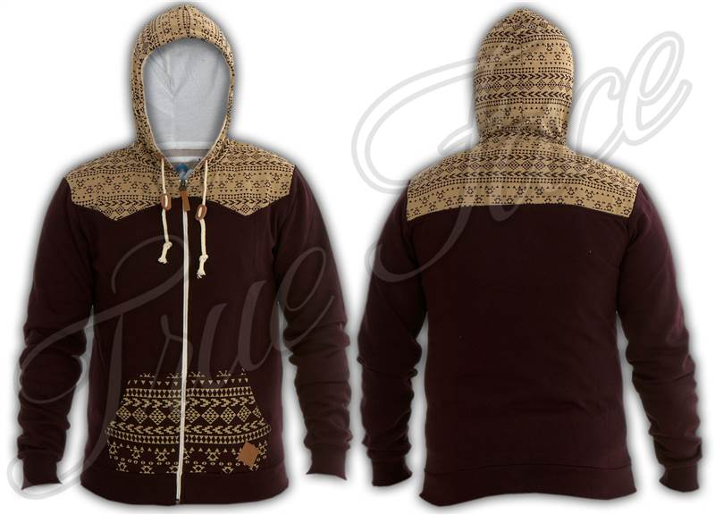 Mens-Boys-SoulStar-Designer-Aztec-Zip-Hoodie-Sweatshirt-Hooded-Top-Sports-Jumper