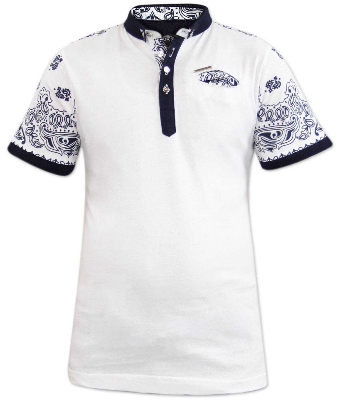 New Mens Genetic Apparel Printed Fashion Polo Collar