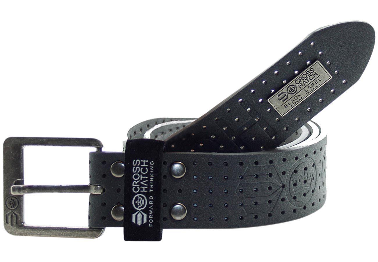 new mens crosshatch designer pu leather casual branded belt
