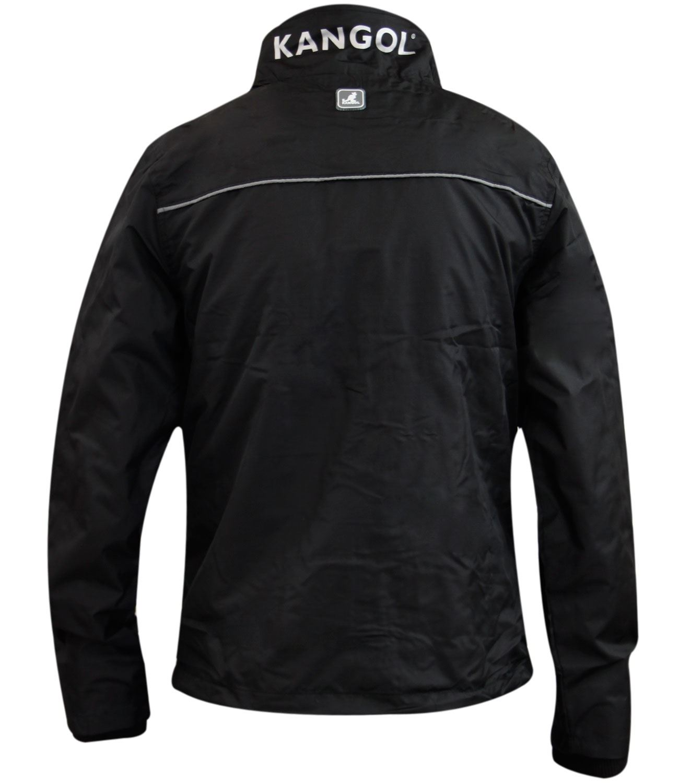 New Mens Kangol Double Zip Thin Lined Windbreaker Summer Jacket Rib Collar Coat