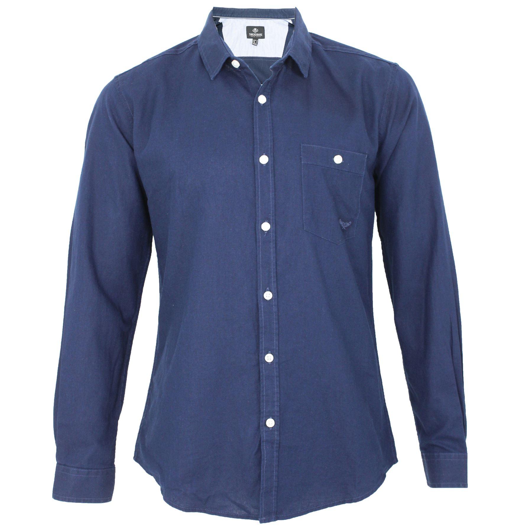 Mens threadbare linen cotton mix faded button casual for Mens summer linen shirts