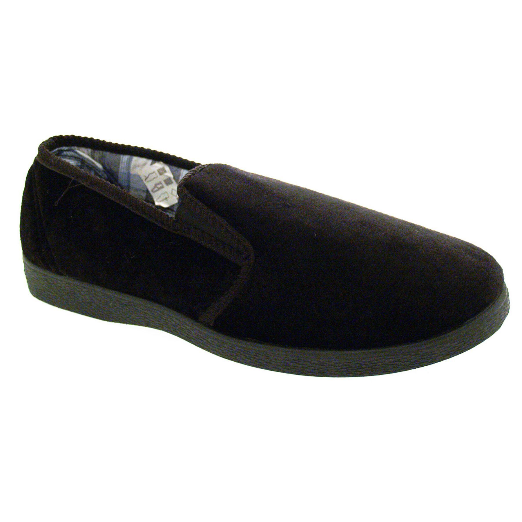 mens expandale elasticated slip on velvet comfort velour