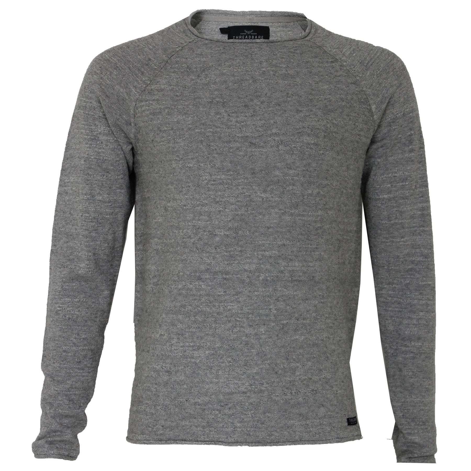 Mens Threadbare Thin Knit Crew Neck Jumper Pullover Summer Sweater ...