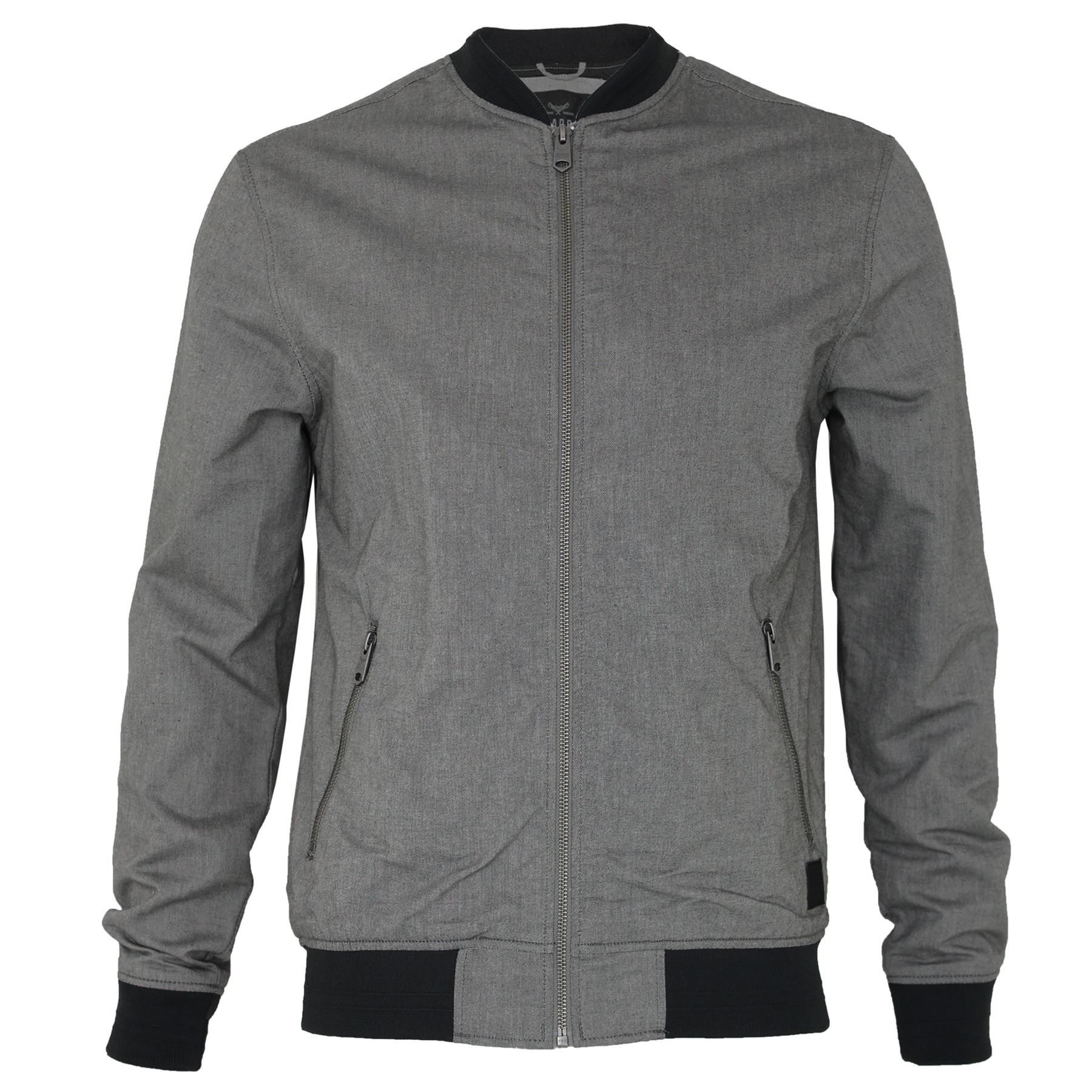 Mens Threadbare Plain Baseball Bomber Jacket Thin Summer Zip up ...