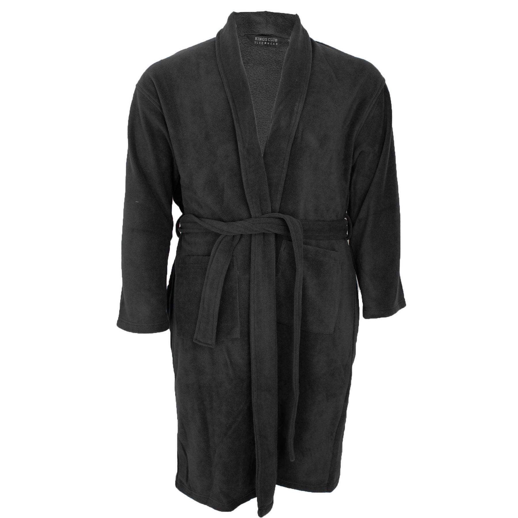 mens kings club big size fleece dressing gown bath robe 3xl 4xl 5xl 6xl 7xl 8xl ebay. Black Bedroom Furniture Sets. Home Design Ideas