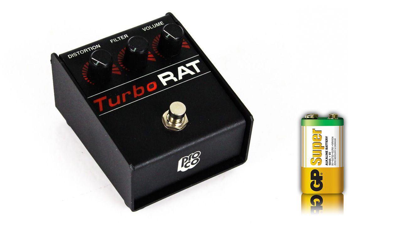 new proco turbo rat distortion guitar pedal w 9v battery turborat stompbox ebay. Black Bedroom Furniture Sets. Home Design Ideas