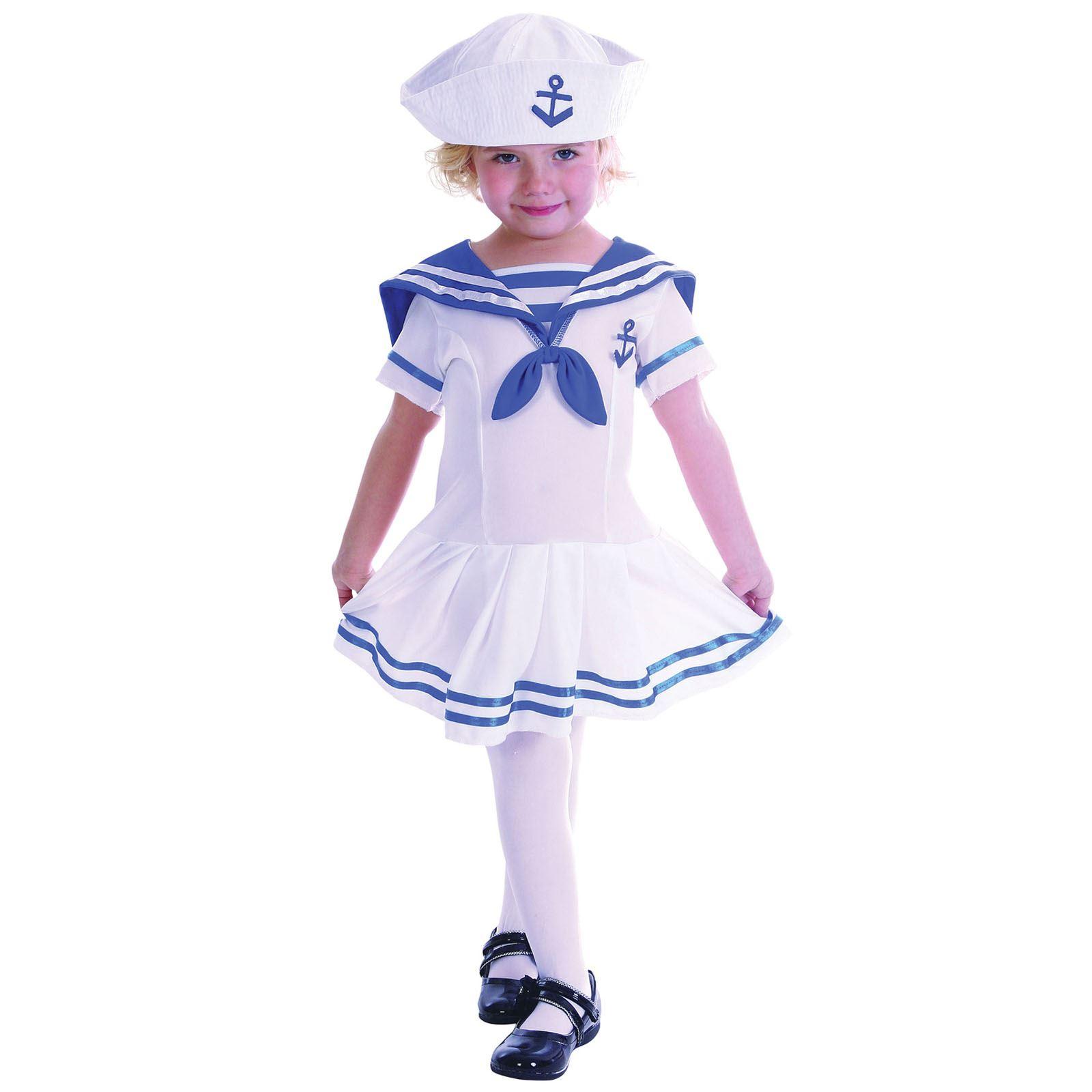 Kids Military Marine Sailor Navy Toddler Boys Girls Fancy Dress ...
