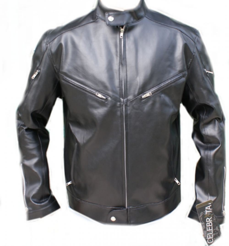 Leather jacket italy - Celebrita Italy Men 039 S Cool Black Style