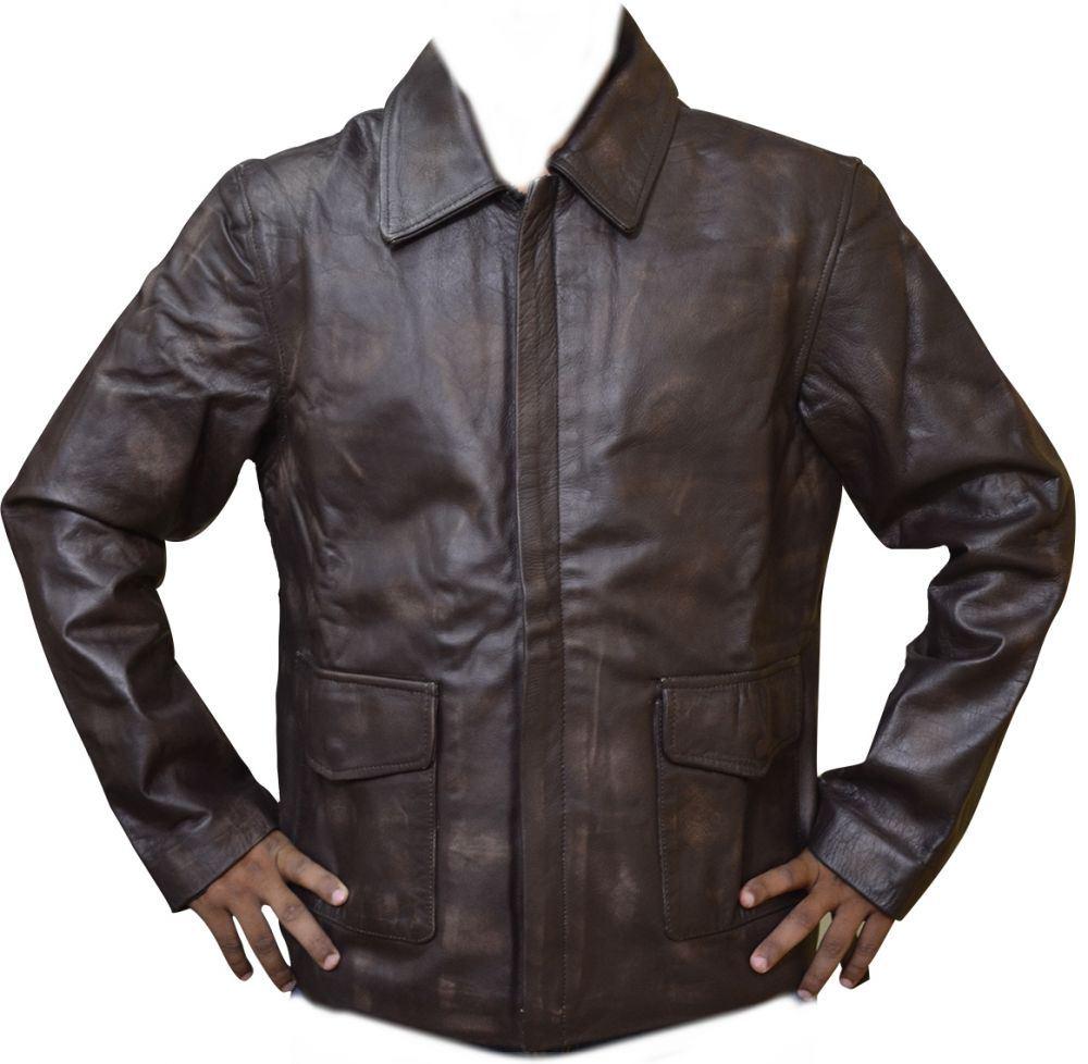 Leather jacket italy - Celebrita Italy Men 039 S Indiana Style Leather