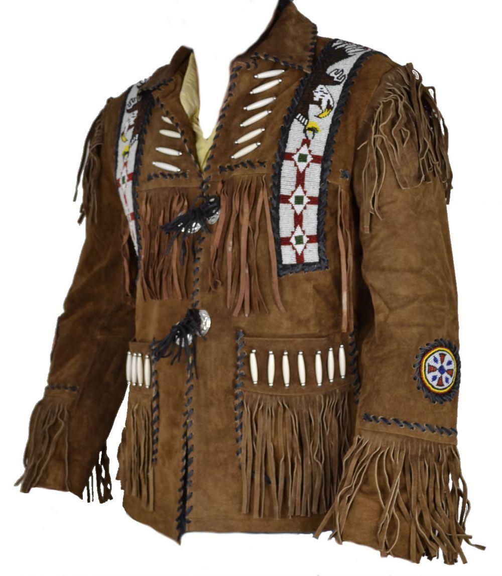 celebrita x cowboy western leather jacket beaded bones u0026 fringes