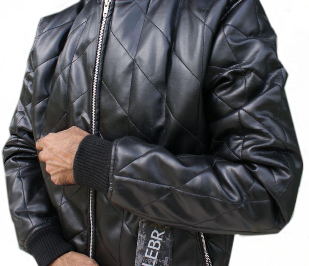 Leather jacket italy - Celebrita Italy Men 039 S Kon Black Quilted