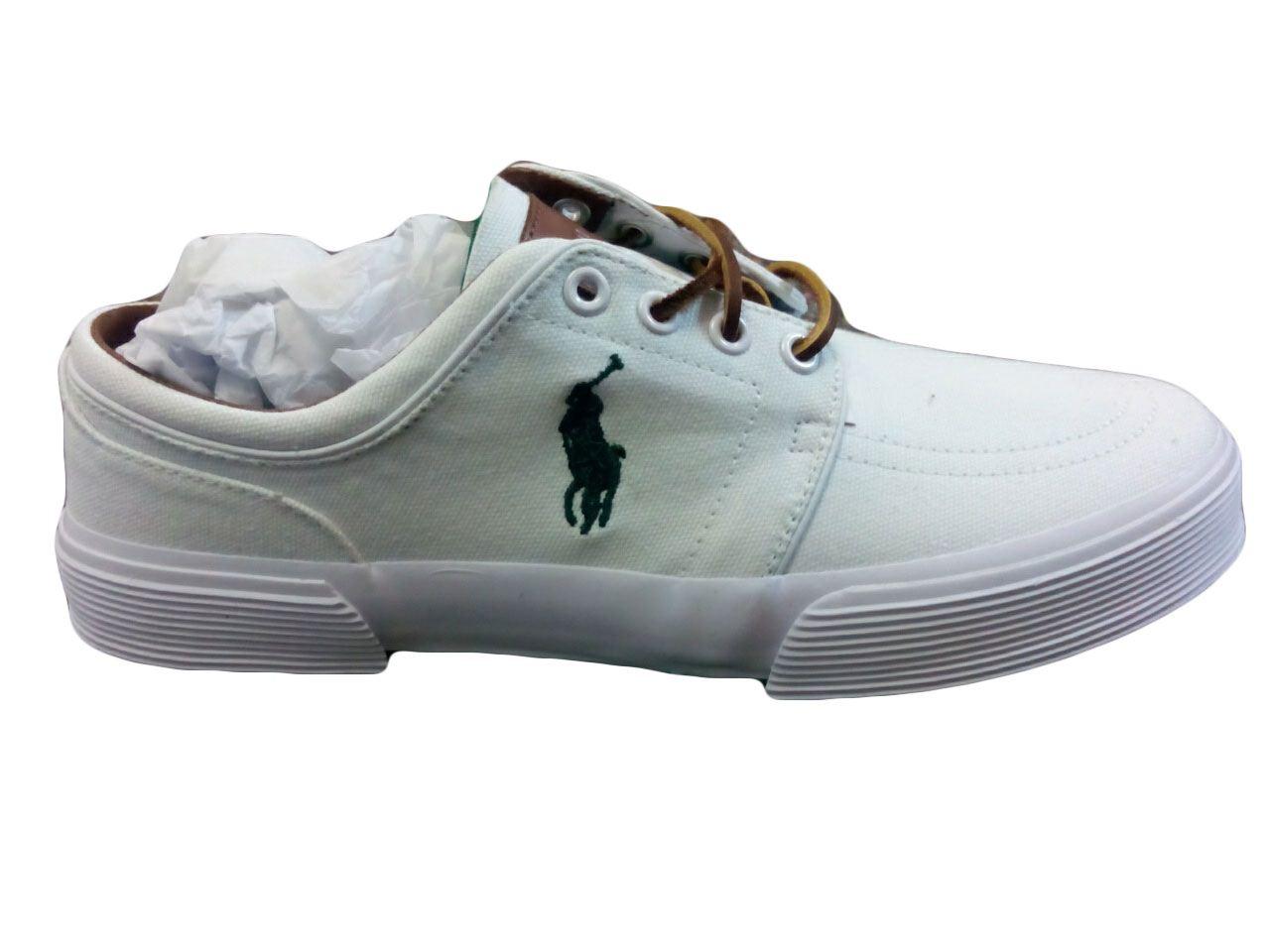 polo ralph shoes s faxon low canvas sneaker ebay