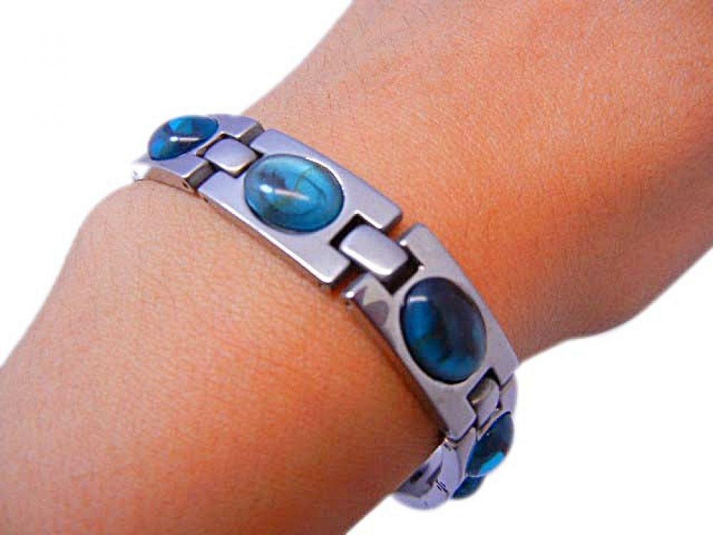 Bioexcel Quantum Scalar Stone Energy Bracelet Turquoise