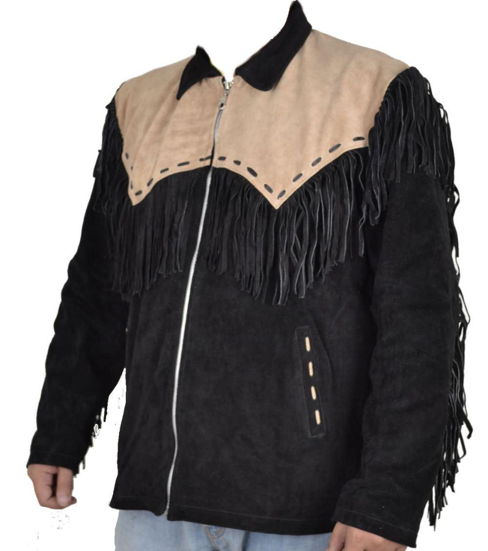 Western leather jacket