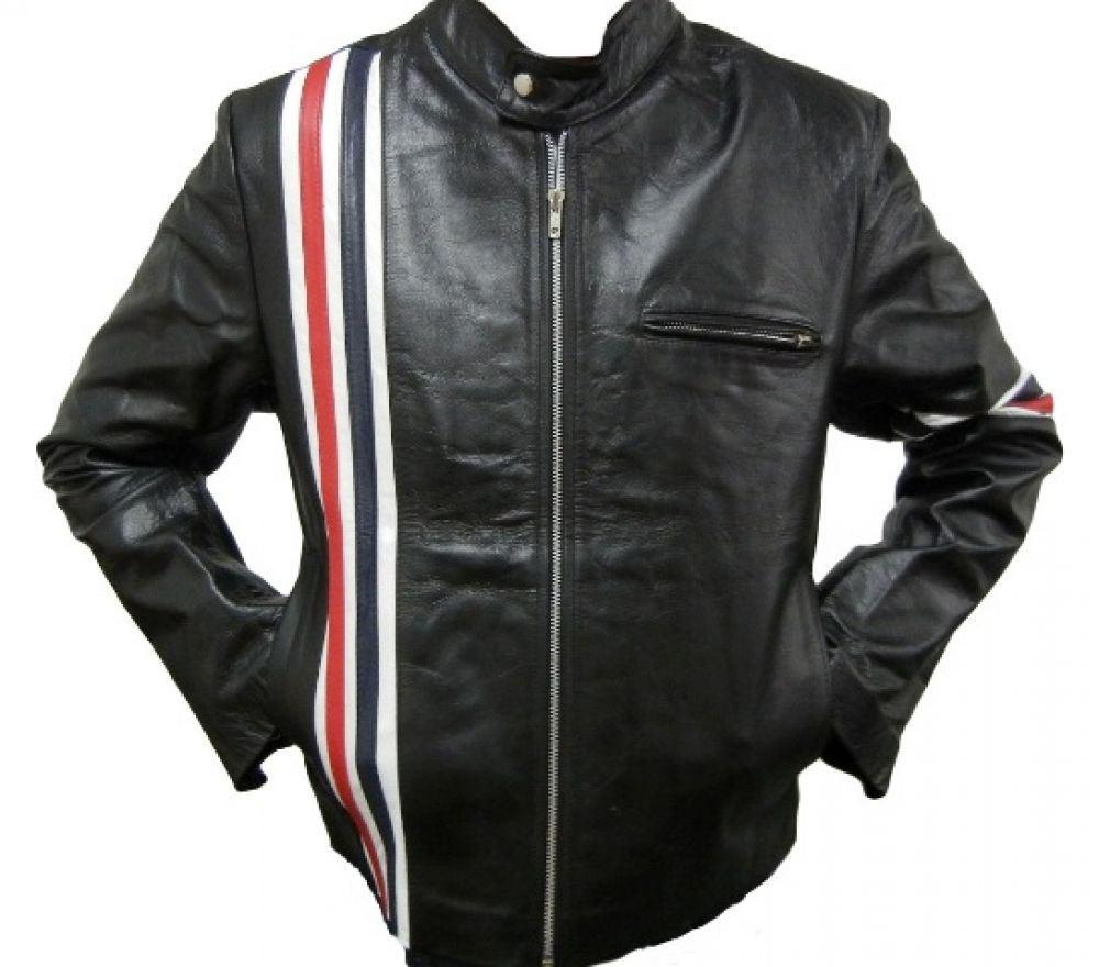 Italian leather jacket for men