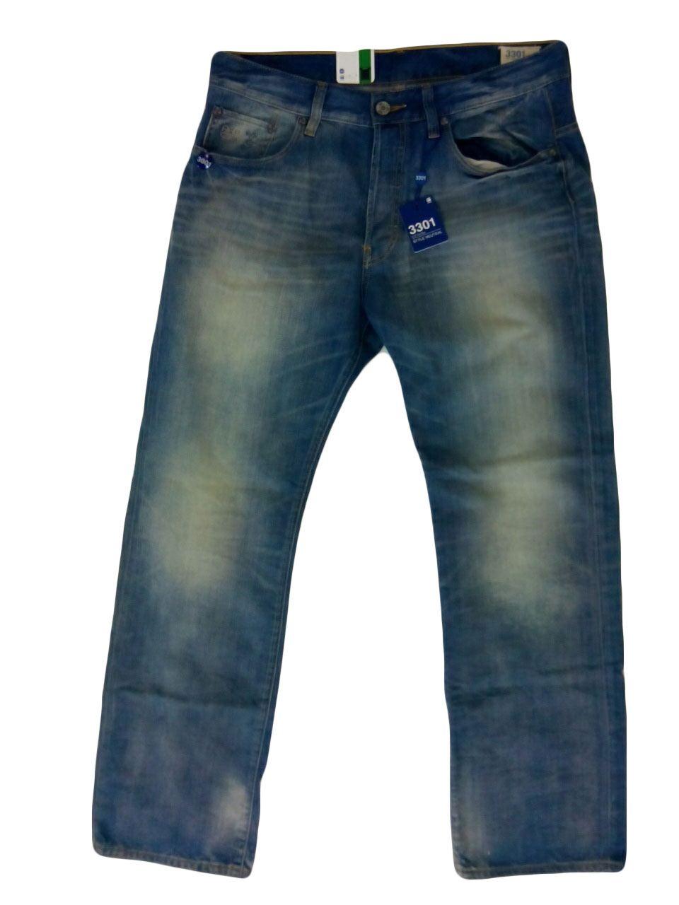 g star men 39 s 3301 loose fit denim jeans. Black Bedroom Furniture Sets. Home Design Ideas