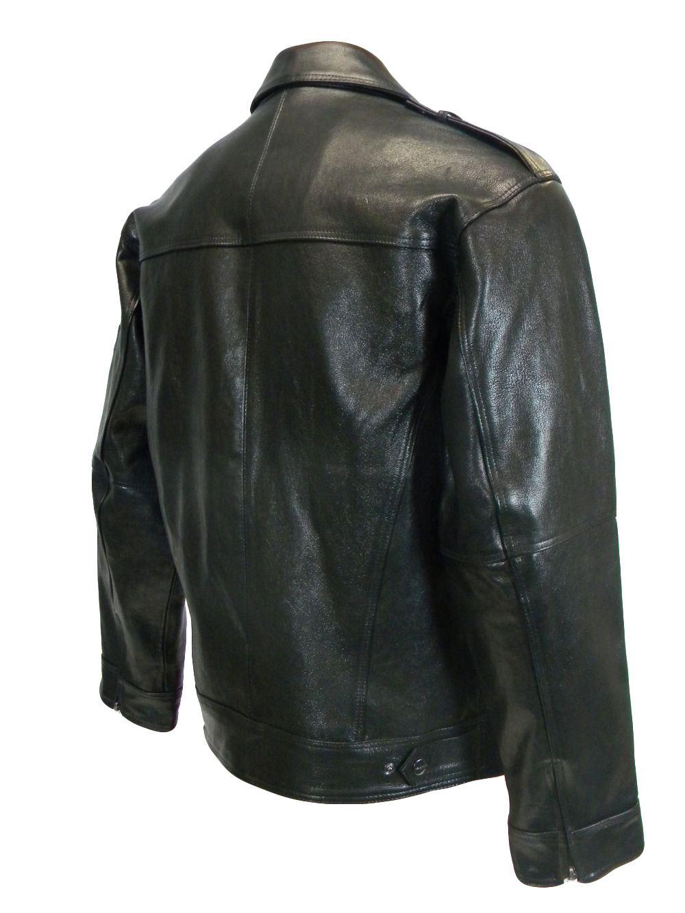 Pelle Pelle Men's Basic Biker Applique Jacket