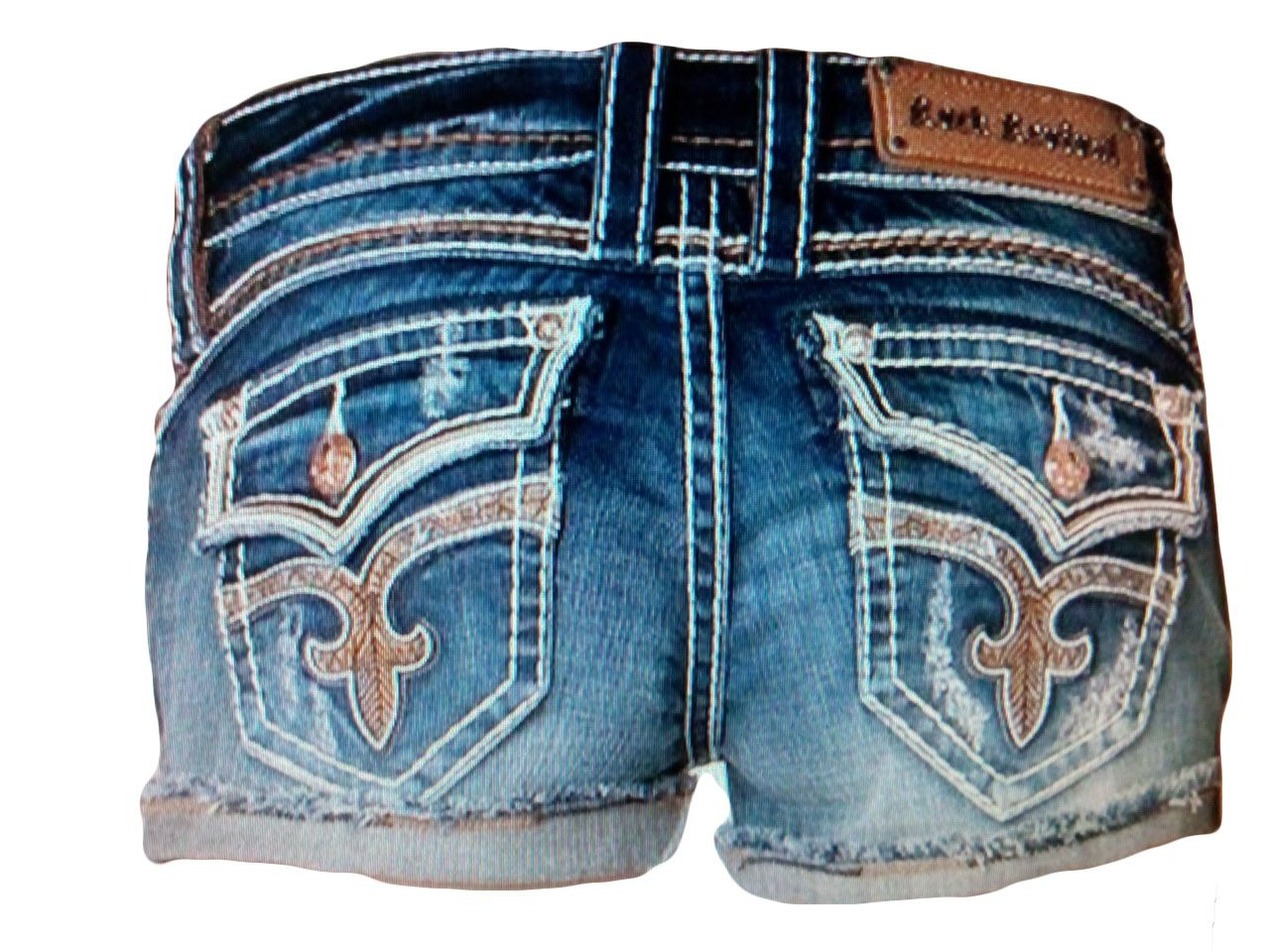 Rock Revival Women's Lillian H Denim Shorts - Many Sizes ...