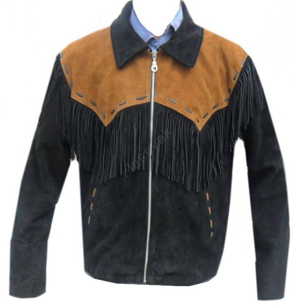 Celebrita X Western Cowboy Jacket fringes Black with Brown ...