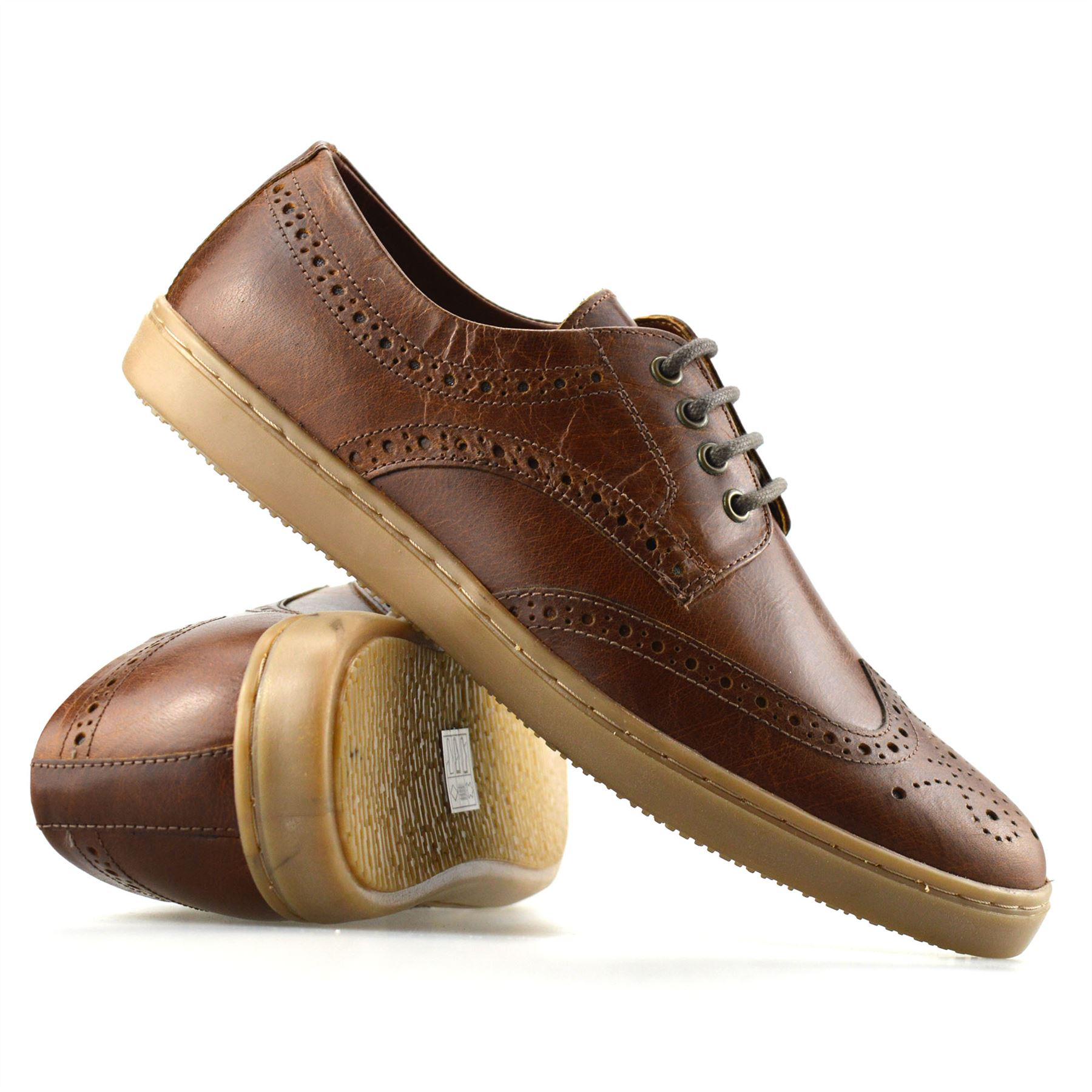 Mens Brown Smart Casual Shoes