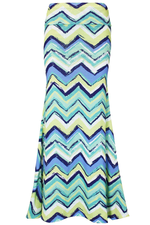 womens maxi skirt print high waisted