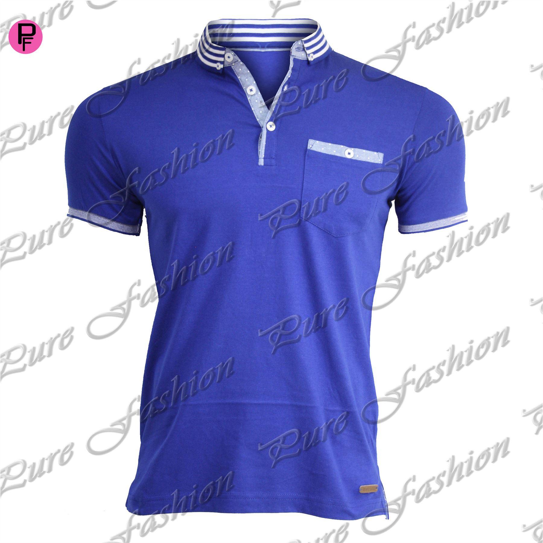 Shirt design for mens - Mens Brave Soul Pocket Summer Designer Branded Collar