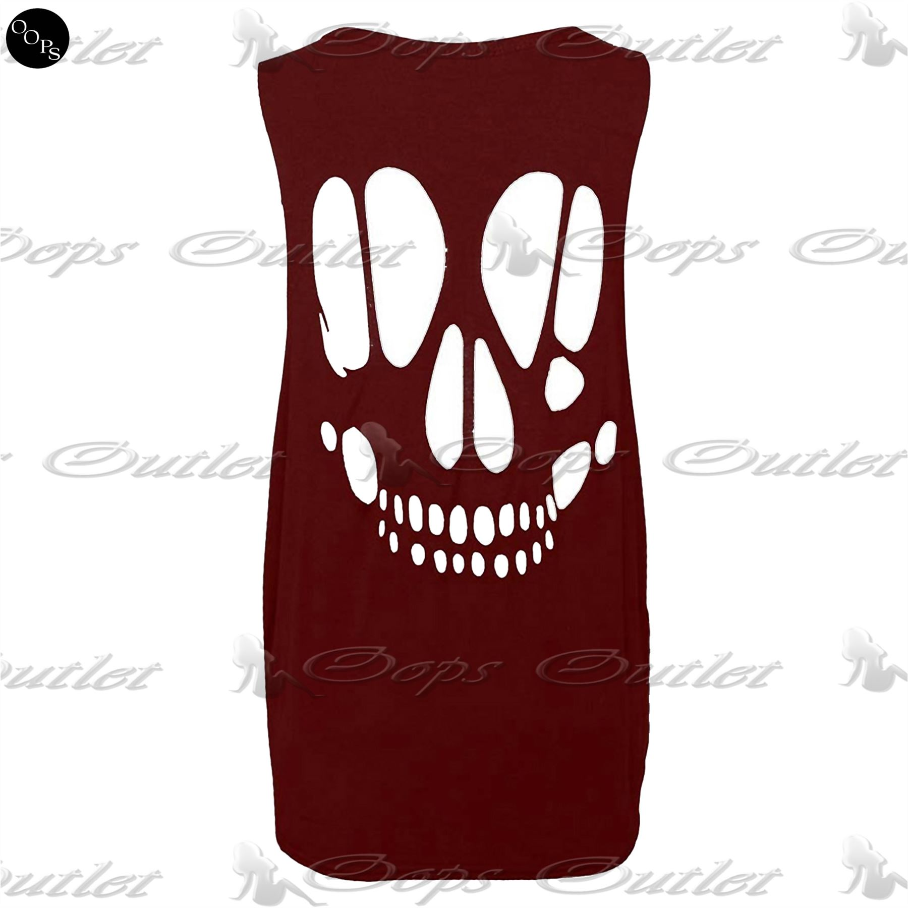 Womens-Baggy-Back-Cut-Out-Skull-Ladies-Sleeveless-T-Shirt-Vest-Top-Plus-Sizes
