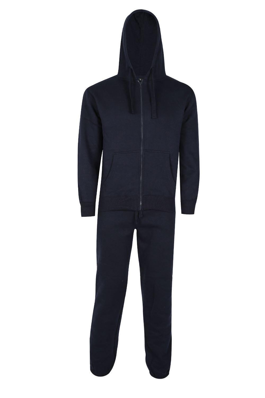 Uomo-Essentials-Pile-Pantaloni-Da-Jogging-e-Felpe-Felpe-con-cappuccio-Set
