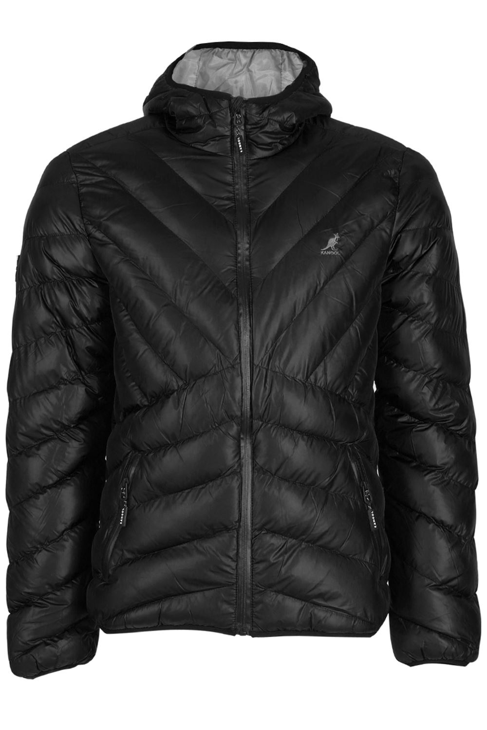 Kangol Mens Quilted Padded Zipper Up Osborne Hooded Bubble ...