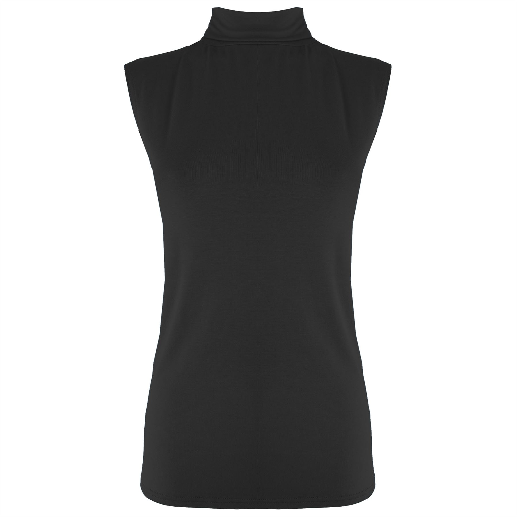Womens polo turtle high neck ladies sleeveless plain for High neck tee shirts