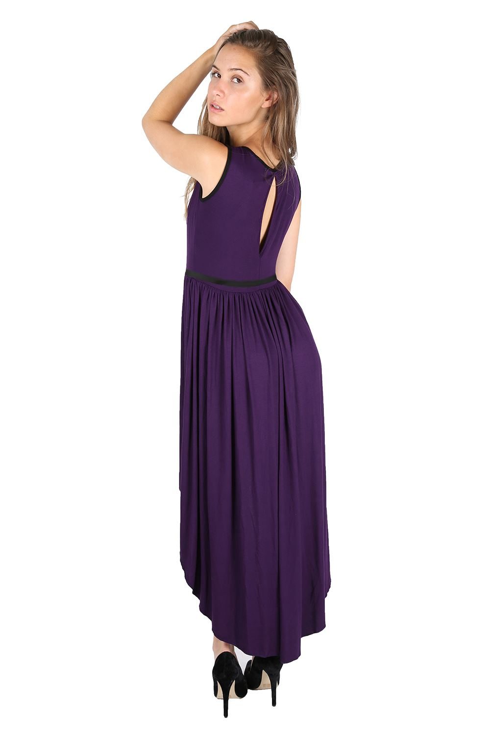 Awesome Women39s Halter Backless High Low Evening Dress  ACHICGIRLCOM
