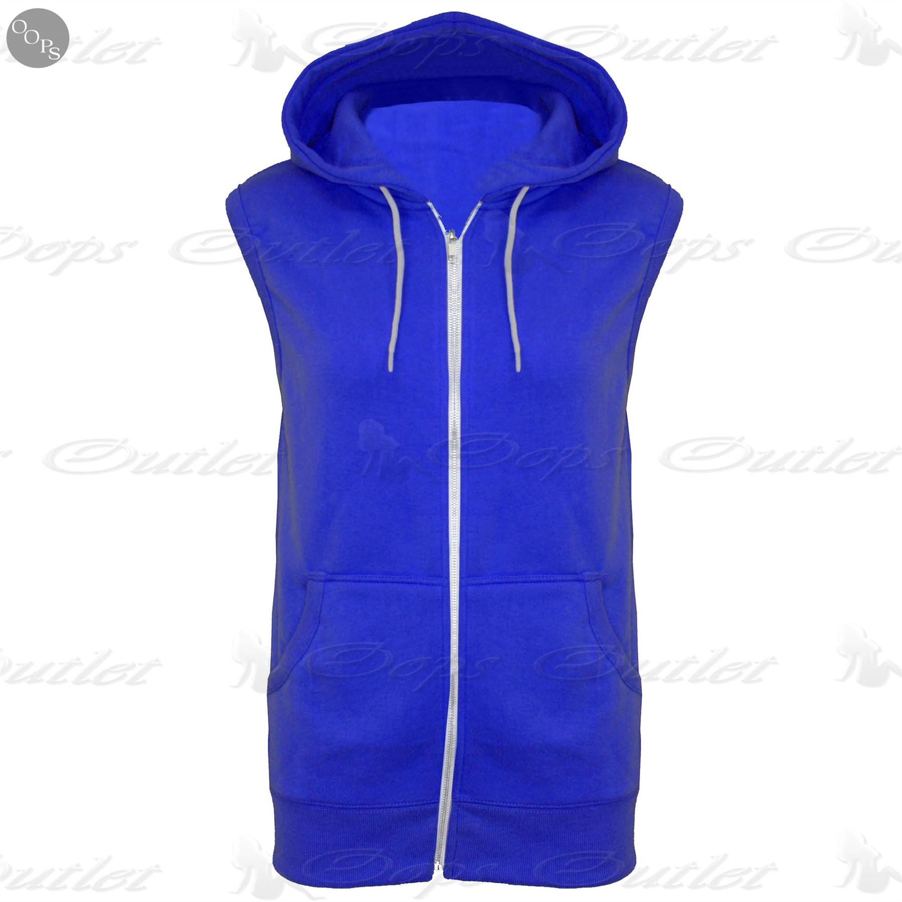 Kids Sleeveless Hooded Hoodie Casual Zipper Sweatshirt Gilet ...