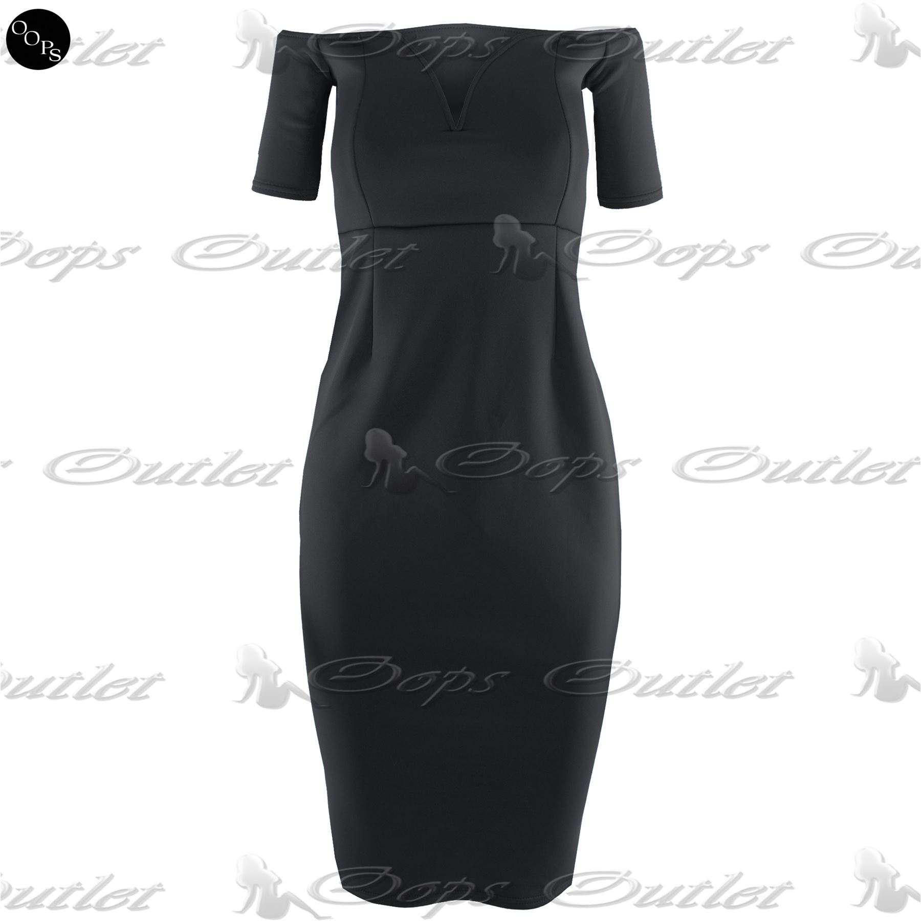 New-Womens-Boobtube-Bandeau-Ladies-Off-Shoulder-V-Neck-Bralet-Bodycon-Midi-Dress