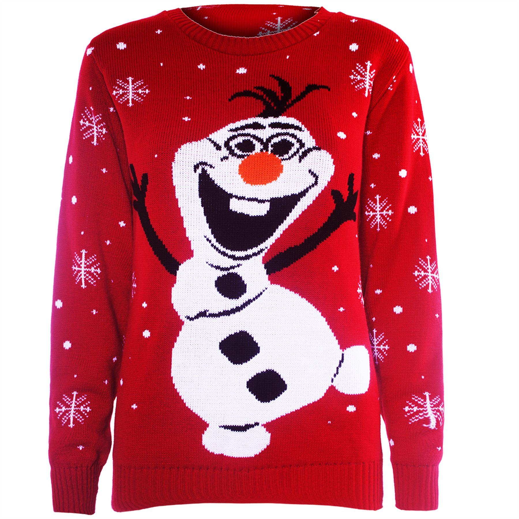 Femmes rudolph olaf frozen tricot f tes de noel sweat - Deco de noel a tricoter ...