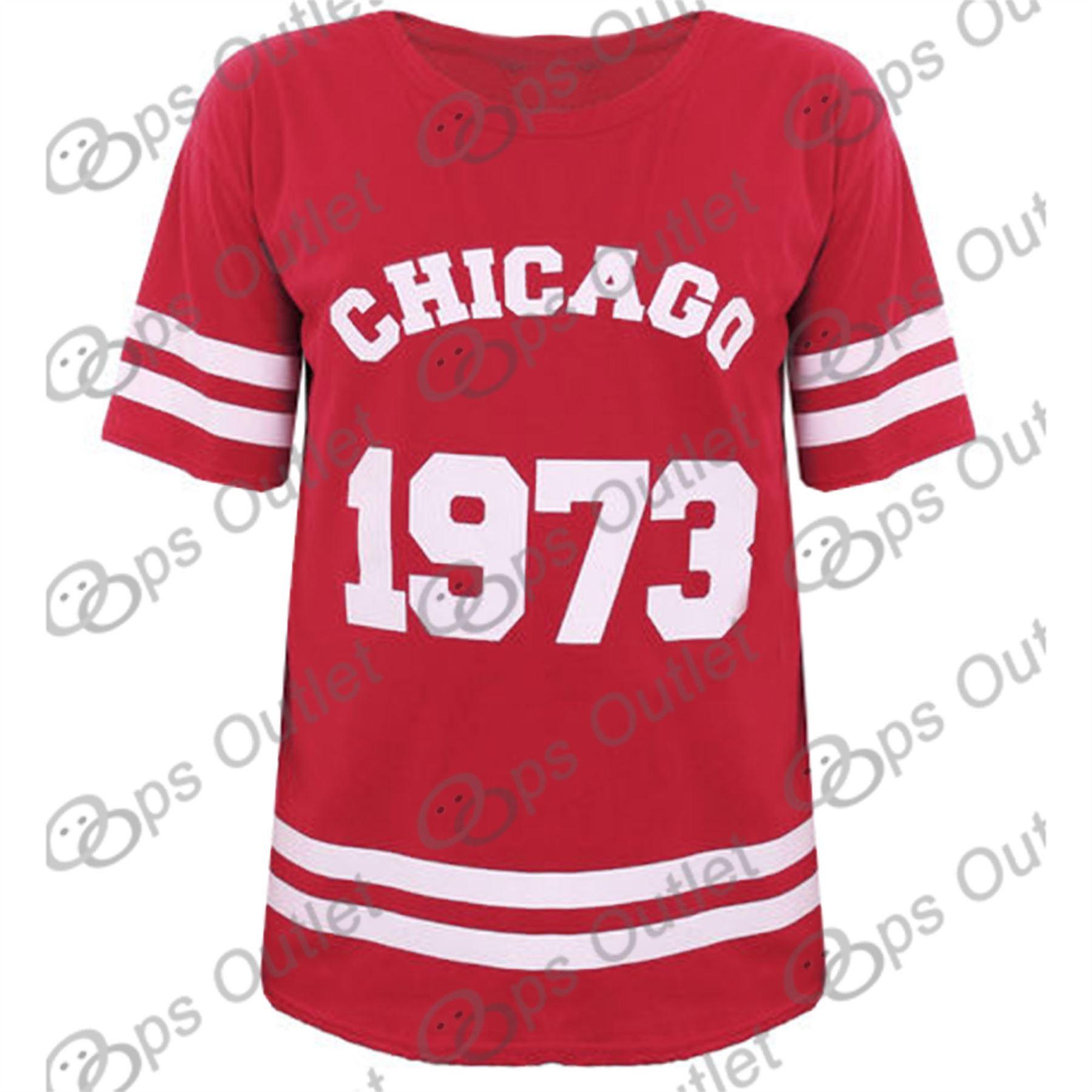Womens ladies baggy oversized baseball cheerleader chicago for Best baseball t shirts