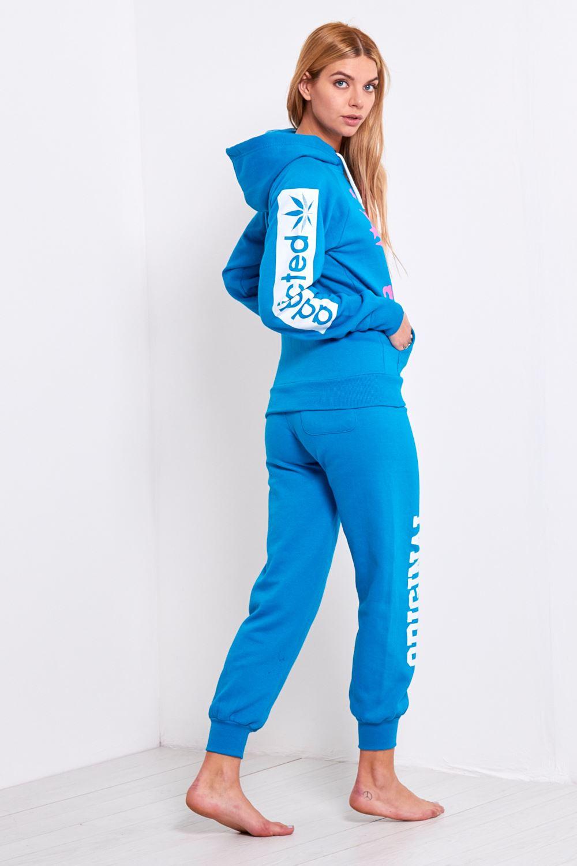 Ladies Womens Essentials Fleece Addicted Sweats Hoody Jog ...