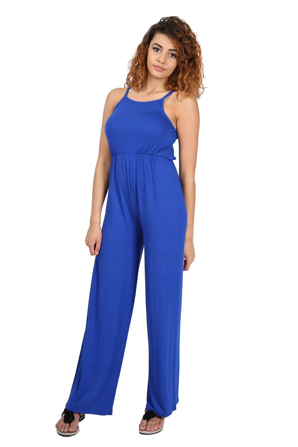 Womens Ladies All In One Square Neck Wide Leg Palazzo Playsuit Jumpsuit UK 8-22 | EBay