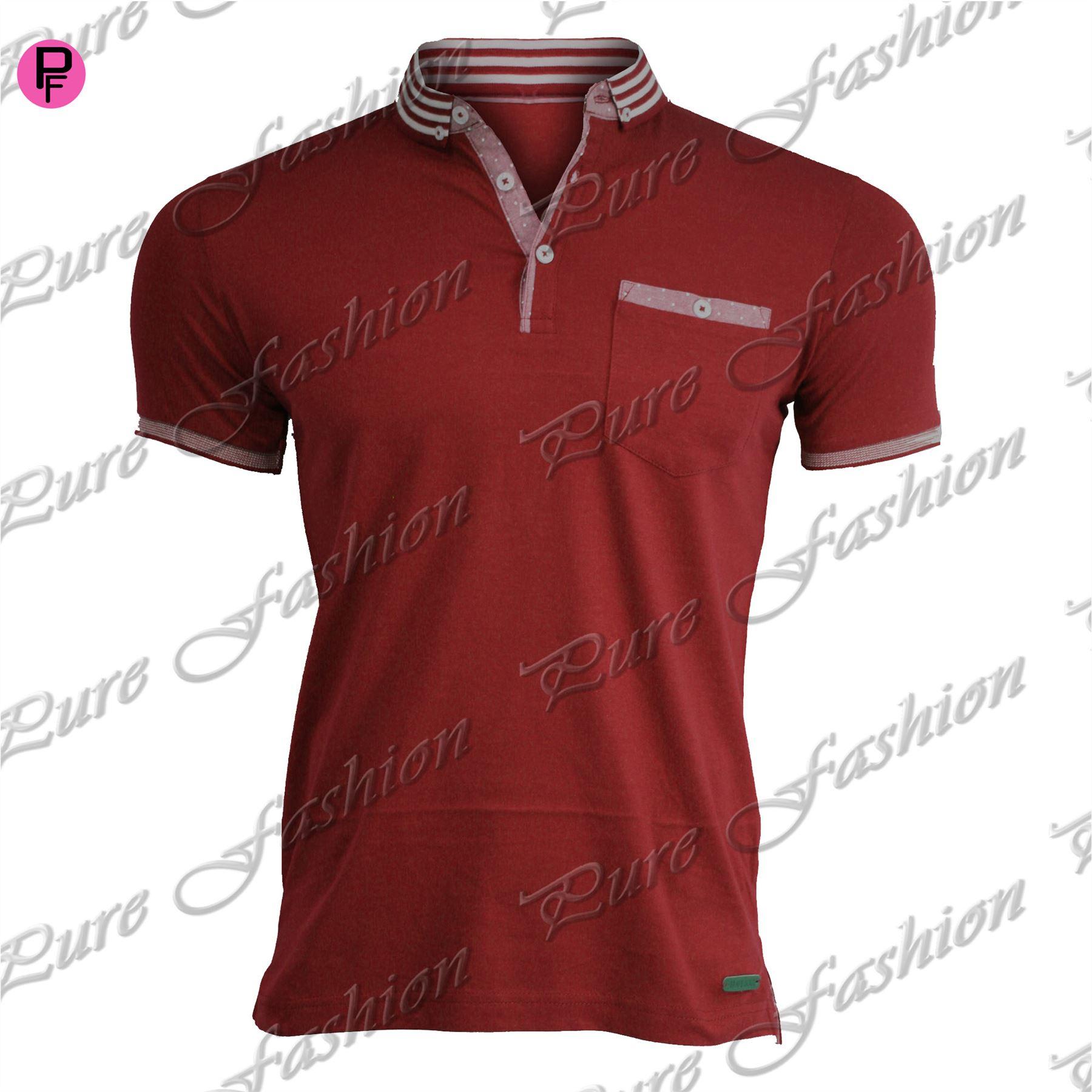 Design for collar t shirts - Mens Brave Soul Pocket Summer Designer Branded Collar