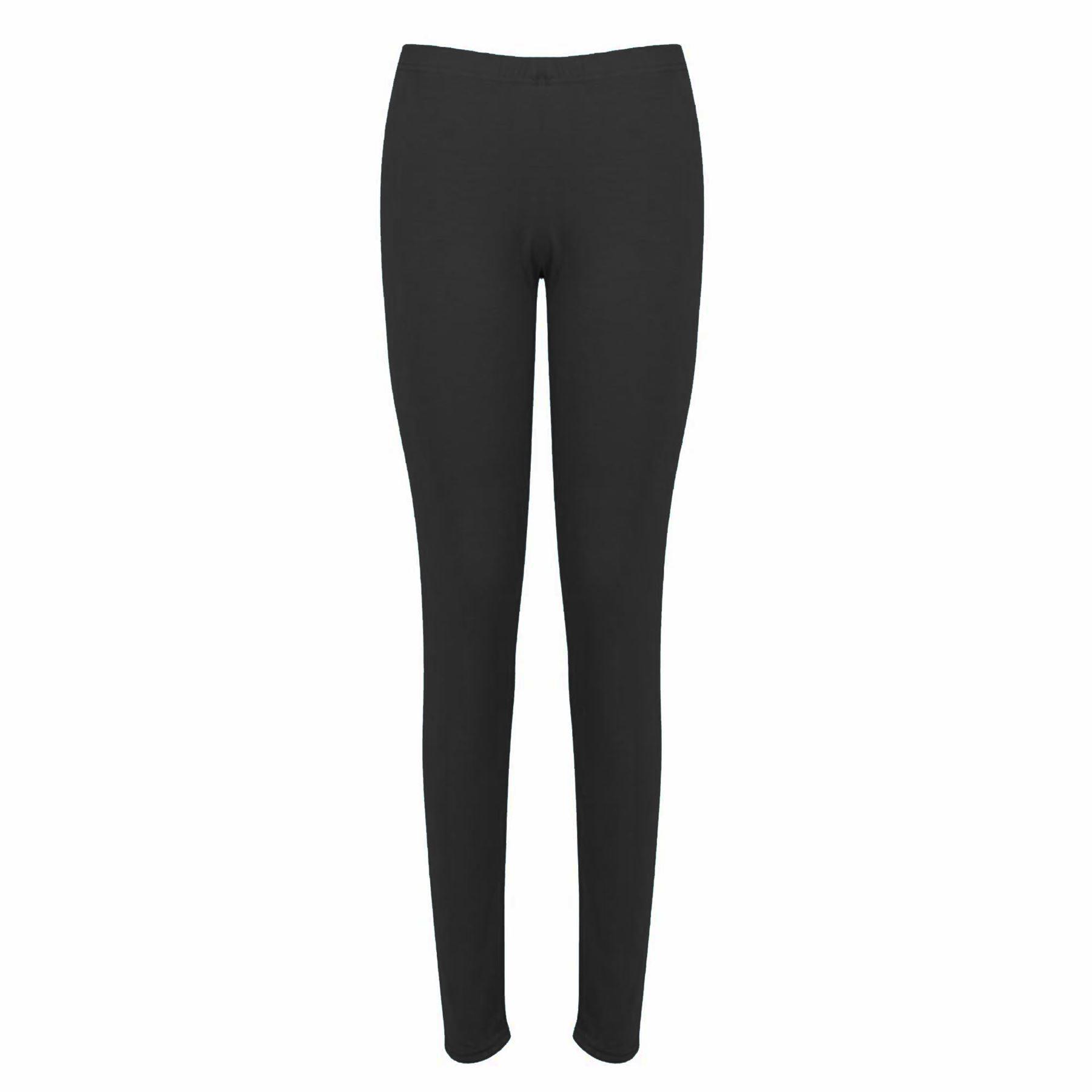 Womens Ladies Full Ankle Length Plain Basic Stretchy Trousers Pants Leggings