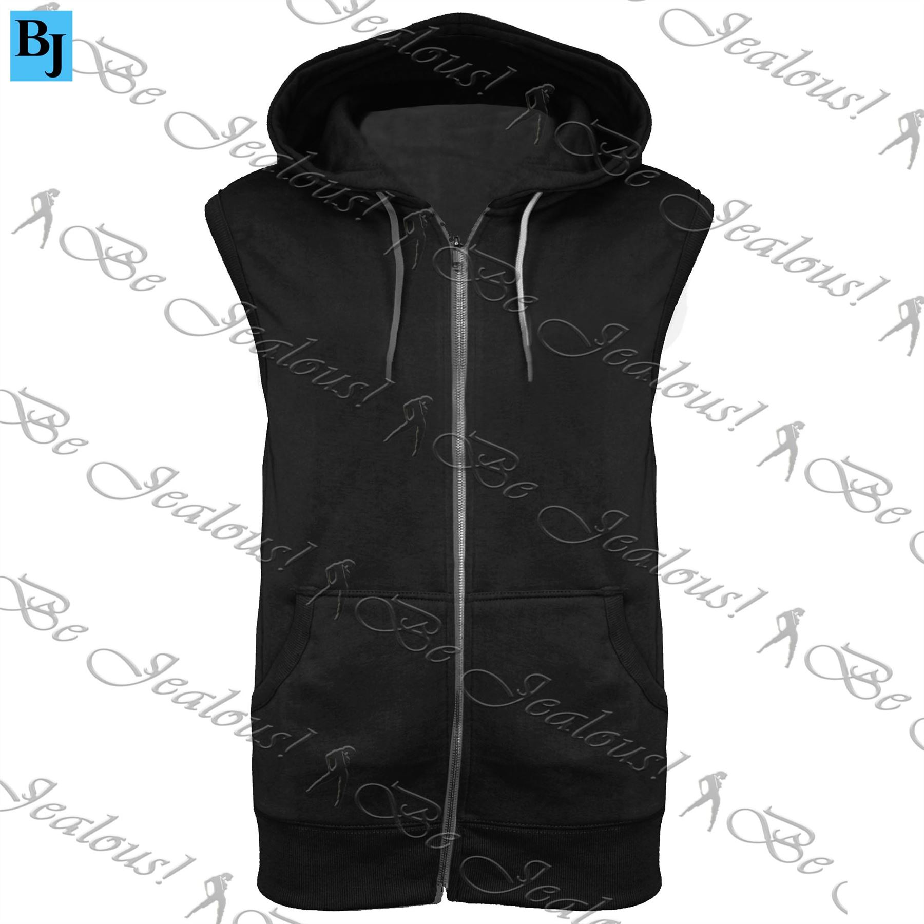 Mens-Sleeveless-Hooded-Hoodie-Casual-Zipper-Sweatshirt-Gilet-Jacket-Jumper-Top