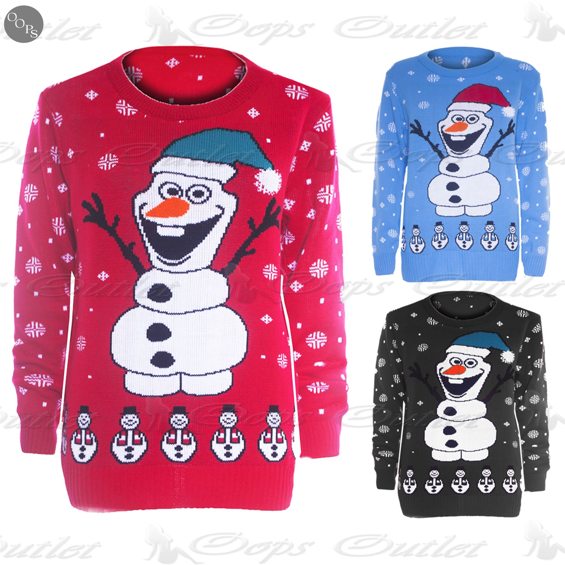 Olaf Christmas Jumper Knitting Pattern : Mens Womens Unisex Christmas Knitted Olaf Frozen HAT Novelty Sweater Jumper T...