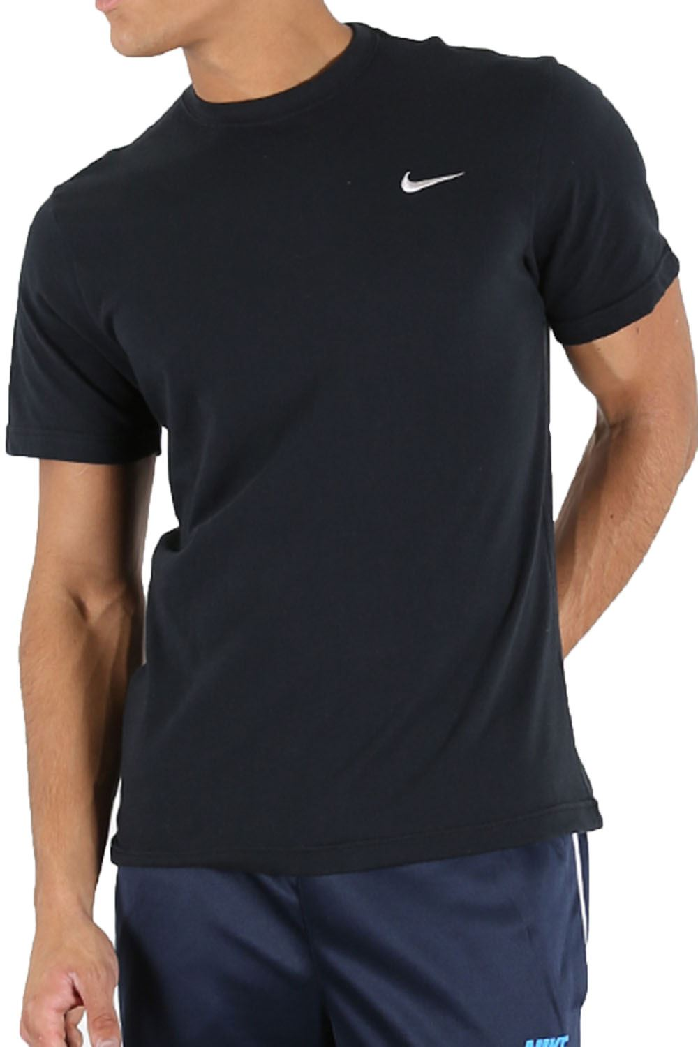 nike mens t shirt crew neck embroidered swoosh logo short sleeve sports tee top ebay. Black Bedroom Furniture Sets. Home Design Ideas