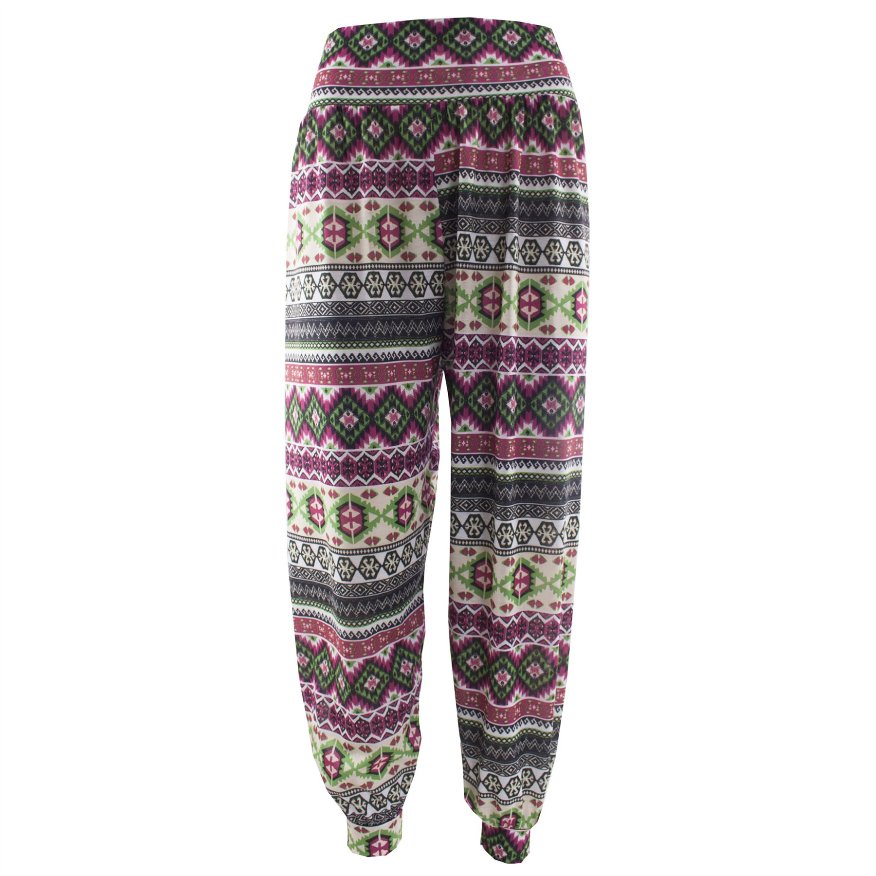 Unique New Womens Ali Baba Trousers Ladies Harem Pants Floral Printed Bottoms Leggin