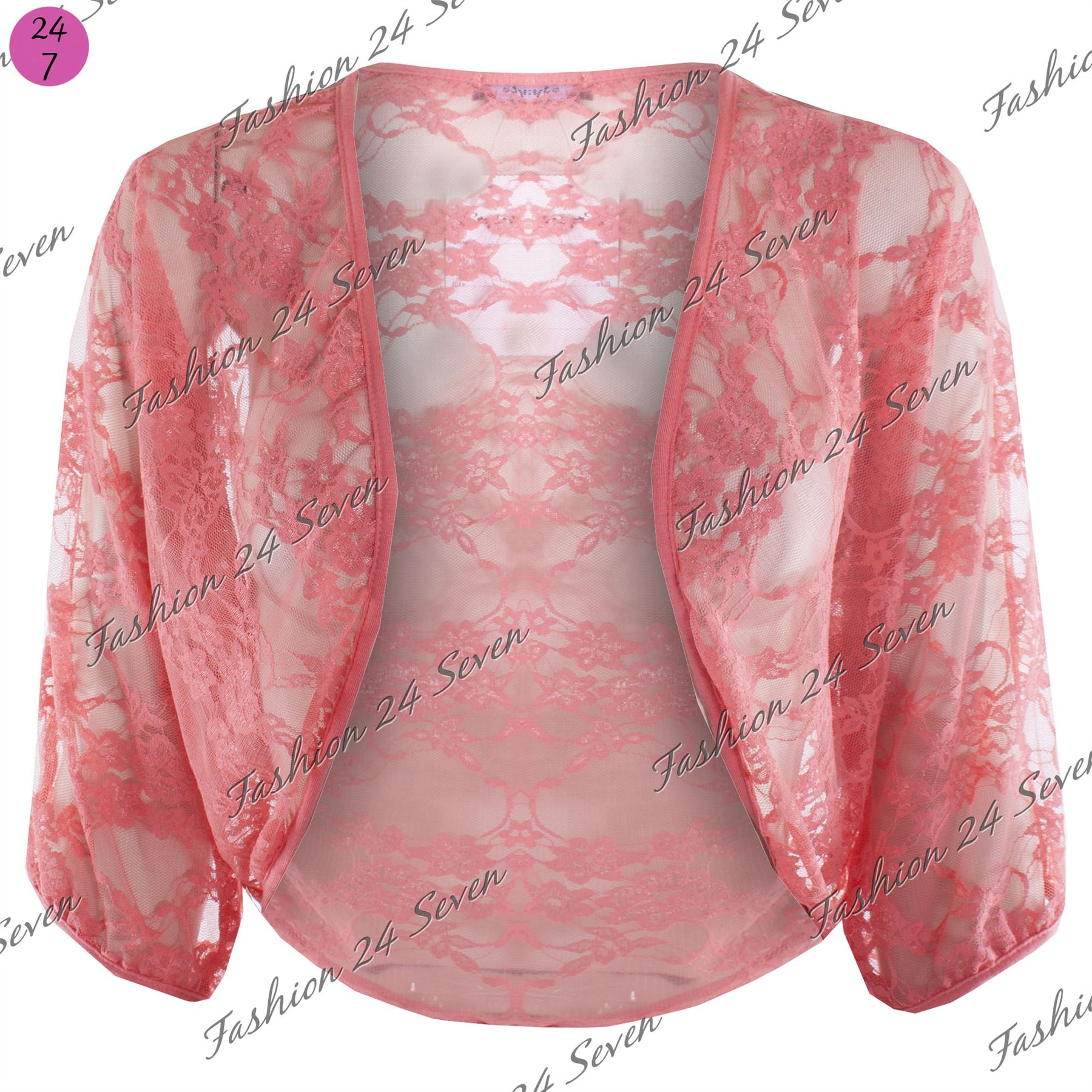 Womens-Batwing-Open-Cardigan-Ladies-Celeb-Lace-Crop-Bolero-Shrug-Top-Plus-Size